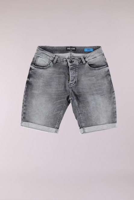 Denim Short Atlanta Grijs