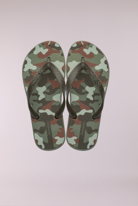 Slippers camouflage Groen