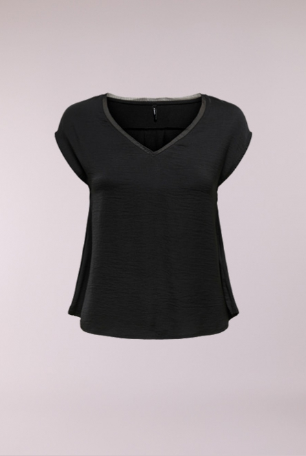 Basic Shirt Liva Zwart