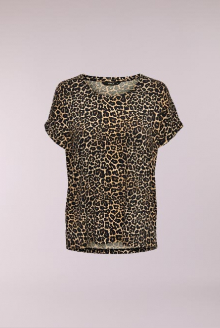 leopard print Shirt Monster Zwart
