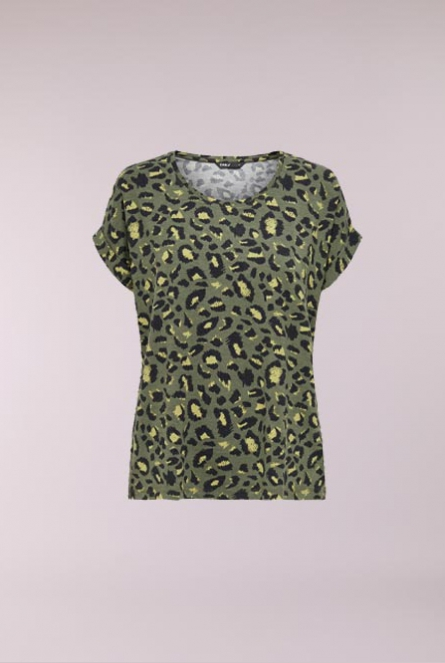 leopard print Shirt Monster Groen