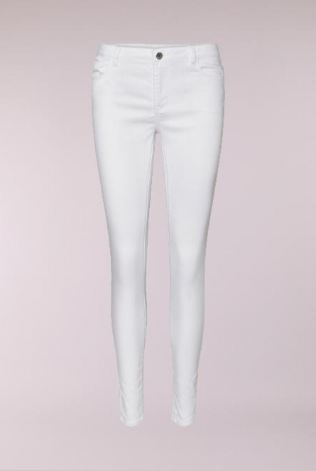 Broek Julia Slim fit Wit