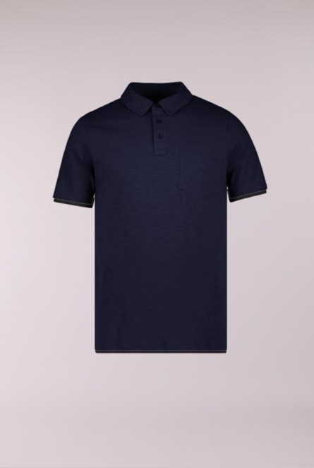 Basic Polo Cork Blauw