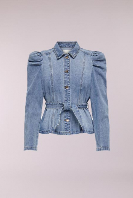 Denim blouse Jules Blauw
