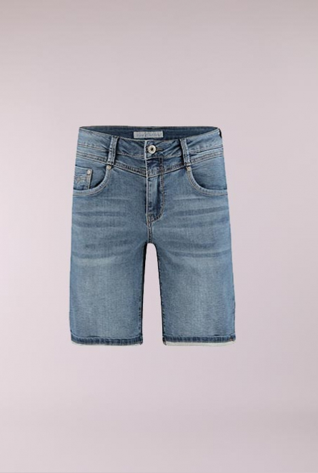 Denim Short Relax Blauw