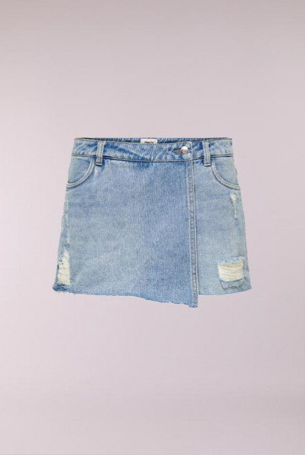 Denim Skort Texas Blauw