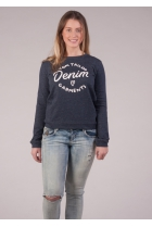 Sweater met opdruk real navy blue