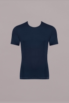 Basic Soft SH03 O-neck Blauw