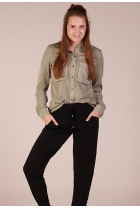 Blouse met ster patches Groen