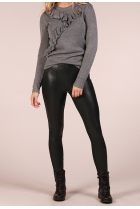 leather look Legging Mary Donker groen