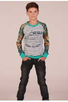 Jungle shirt Kild Blauw