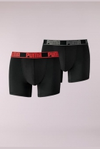 PUMA ACTIVE BOXER 2P PACKED Zwart